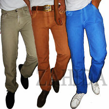 Jeel Men's Jeans Designer Trousers Cargo Style Brown Blue Gray Summer Clubwear