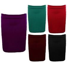Women Plus Size Casual Stretch Women Fitted Bodycon Mini Short Skirt 16-22