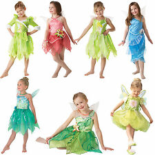 Official Disney Tinkerbell Pixie Fairies New Fancy Dress Kids Childs Costume