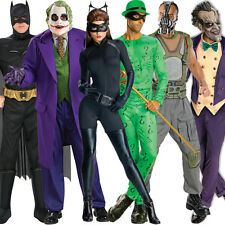 Official Adult Batman Catwoman Joker Bane Riddler Fancy Dress Outfit Halloween