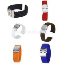 Waterproof Silicone Rubber Watch Wristwatch Strap Band Replacement 16-24mm