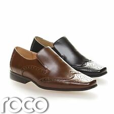 Boys Brogues, Boys Slip On Shoes, Boys Black Shoes, Boys Brown Shoes, Prom Shoes