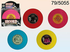 Record Player Vinyl Glass Coasters - New - Large 18 CM - Music Retro Gift Dining