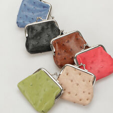 Girls Women Cute PU Leather Polka Dots Mini Coin Purse Wallet Change Purse Bag