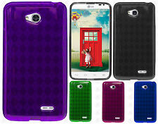LG Optimus L70 TPU CANDY Gel Flexi Skin Case Phone Cover Plaid Accessory