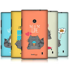 HEAD CASE WILBUR THE CAT SNAP-ON BACK COVER FOR NOKIA LUMIA 520 525