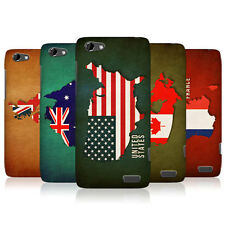 HEAD CASE FLAG MAPS SNAP-ON BACK COVER FOR HTC ONE V