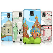 HEAD CASE DOODLE CITIES SERIES 3 SNAP-ON BACK COVER FOR SAMSUNG GALAXY NOTE 3