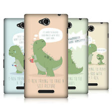 HEAD CASE TIMES OF A T-REX SNAP-ON BACK COVER FOR SONY XPERIA C C2305