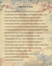 The Starfish Poem Wise Man Tide Nautical Inspirational Roses Quality Art Print