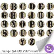 Name Wall Letters Alphabet Stickers Initial Decals Boys Sports Decor Baseball
