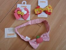 NWT GIRLS GYMBOREE HAIR CLIP, HEADBAND PREPPY PEACH, U PICK