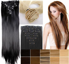 """Smooth Clip In Hair Extensions Long Straight Full Head Hair Extentions 22"""" 7PCS"""