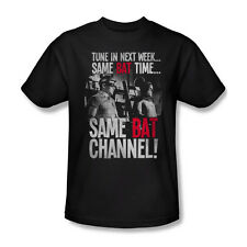 Batman Classic TV Bat Channel T-Shirt Adult Men Black S M L XL 2X 3X