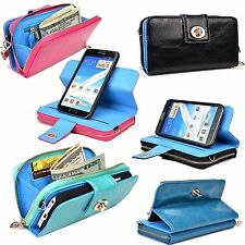 Samsung Mega 6.2 & Galaxy Note 3 & 2  Wallet with Removable Shell & Money Slots