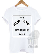 No 1 New York Boutique Paris Fashion Tumblr T Shirt Top Girls Ladies Women