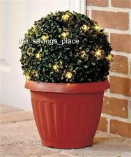 ELEGANT INDOOR OUTOOR LED LIGHTED POTTED TOPIARY PLANT W/BUILT IN TIMER 2 SIZES