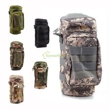 Tactical Molle Zipper Kettle Water Bottle Utility Pouch Bag w Small Mess Pouch