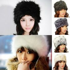 New Ladies Women Faux Fur Winter Ski Russian Cossack Style Hat Headband Cap