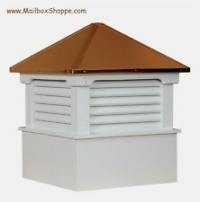 "24"" Azek Vinyl Hamlin Cupola with Copper Roof - Amish built quality since 1993"