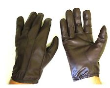 MENS BROWN LEATHER POLICE STYLE SEARCH DRIVING GLOVES UNLINED NEW ALL SIZES