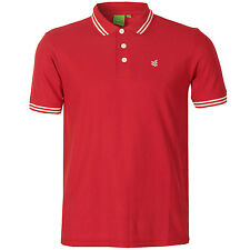 Gio-Goi Mens Plain 9 Tipped Polo Shirt In Red From Get The Label PP1