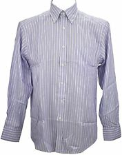 Ex Store Quick Iron Stripe Oxford Long Sleeve Shirt Lilac