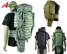 4 Colors Airsoft Molle Tactical Military Dual Rifle Backpack Gun Bag Case BK/TAN