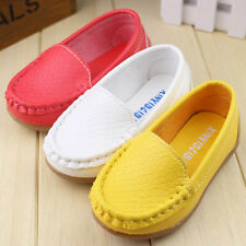 New Kids Toddlers Girls Sneakers Solid Color Cute Flats Casual Leather Shoes