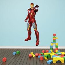 Wall art Graphic AVENGERS ASSEMBLE IRON MAN TONY STARK Printed Vinyl Sticke