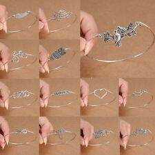 HOT Fashion Tibetan Silver Infinity Owl Bangle Cuff Bracelet Women Charm gifts