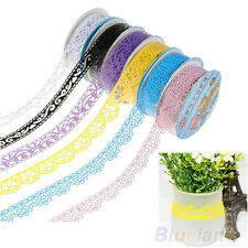 2X Trendy Hollow Lace Diary Stationery Decorative Sticker Lovely Adhesive Tape