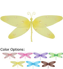 Dragonfly Decor Ceiling Wall Nylon Hanging Girl Room Home Baby Nursery Shower
