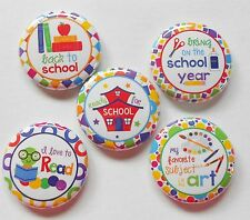 """Back To School Flatback - Pin Back Buttons 1"""" for Bows Embellishment"""