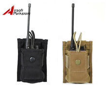 CALDERAGEAR 1000D Airsoft Military Tactical Molle Radio Pouch 2 Colors BK/Tan
