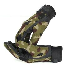 Men's Camouflage Military Tactical Airsoft Shooting Hunting Full Finger Gloves S