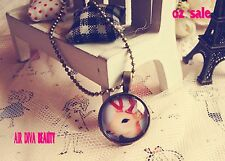 Women Girls Retro Vintage Look Cute Cameo Style Deer Long Chain Necklace