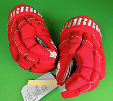 Warrior Carolina Hurricanes NHL Pro Stock DT2 Pro red Hockey Gloves (New)