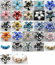 Free 5Pcs Cute Murano Glass Beadss Fit European Charms Bracelet An173