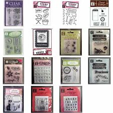 STUDIO G Acrylic Clear Rubber Stamp Sets (You Choose Theme and Style)