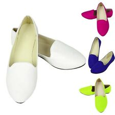 Ladies Womens Faux Suede Flat Ballet Ballerina Slip Pump Dolly Shoes Slilppers