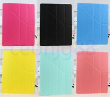 For iPad 2/3/4 Transformer Leather Smart Stand Case Magnetic Multi Fold 8colors