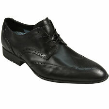 Mens Rockport Dialed In Brogue Shoes In Black From Get The Label