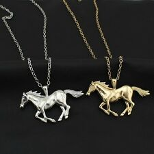 "New Fashion Gold/Silver Jewelry Running Horse Pendant 27""Necklace Gift EA62"