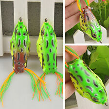 Realistic Large Frog Topwater Fishing Lure Crankbait Hooks Bass Bait Tackle JTV5