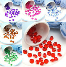 1000/500pcs Crystal Diamond Wedding Party Table Scatters Decor Favor 4.5-10mm