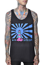 Pink Dolphin Ocean Light House Tower Authentic Japanese Anime Muscle Tank Top