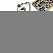 For Apple iPhone 4S 4 Luxury Bling Rhinestone Hard Case Fitted Cover +Film
