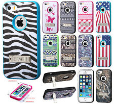 For Apple iPhone 5 5S SE IMPACT Verge HYBRID Kickstand Case Skin Phone Cover