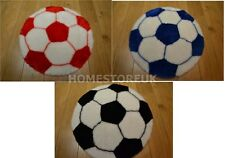FOOTBALL SHAPED RUG ROUND SPORTS COMFORTABLE FLUFFY FAUX FUR SHEEPSKIN STYLE